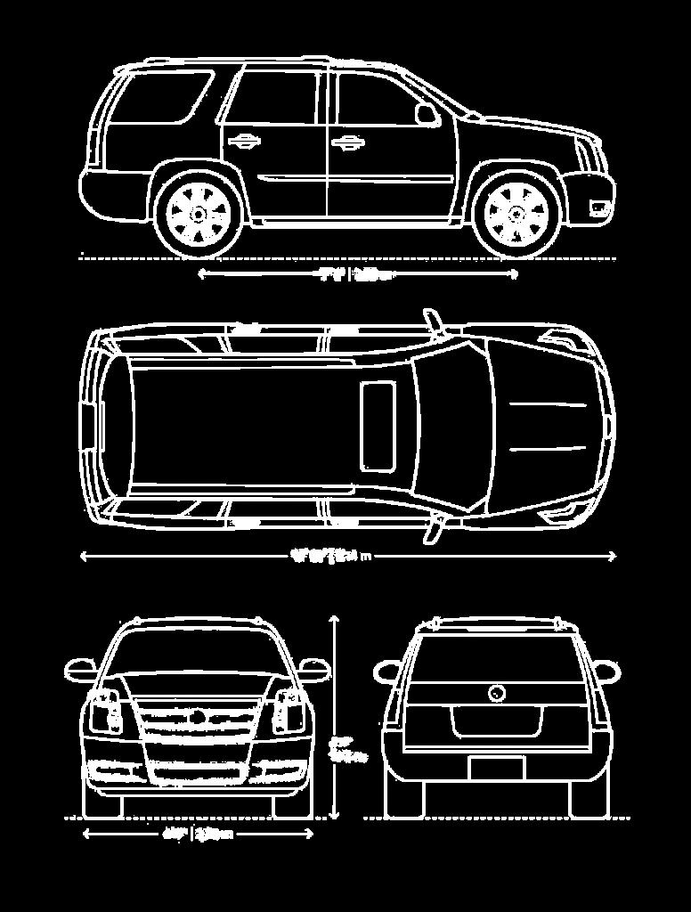 Cadillac Escalade wymiary - Luxury Car Rental Mestenza Tricity Rafał Grzebin
