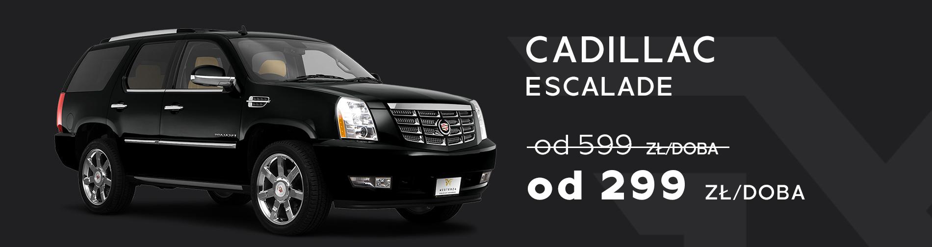 Cadillac Escalade Wynajem samochodów w promocji taniej Trójmiasto