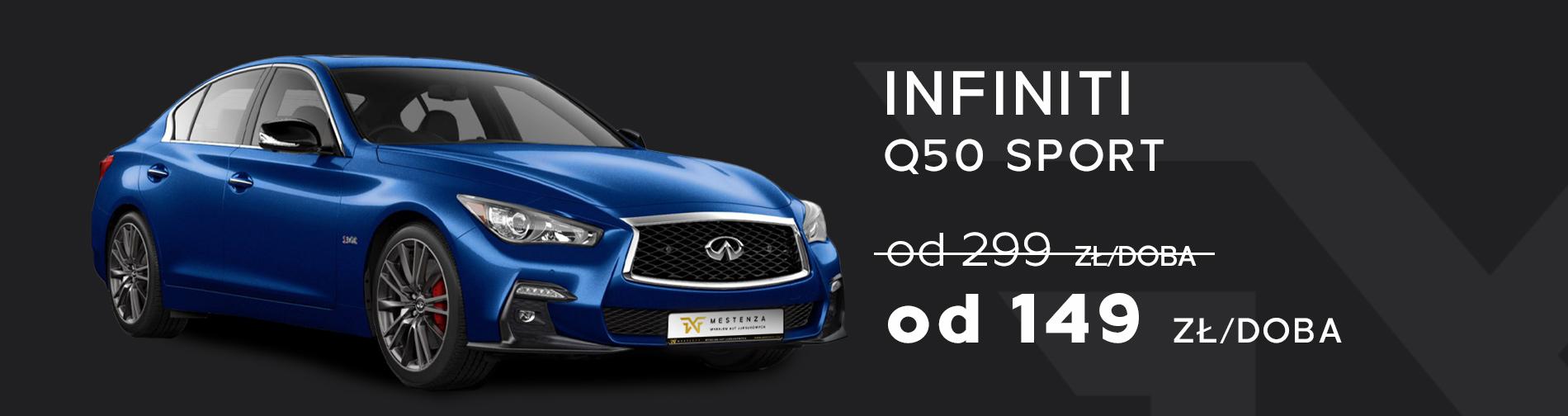 Infiniti Q50 Sport Wynajem samochodów w promocji taniej Trójmiasto